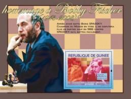 Guinea 2008 MNH - Hommage A Bobby Fischer: & Boris Spassky. YT 828, Mi 5450/BL1497 - Guinea (1958-...)