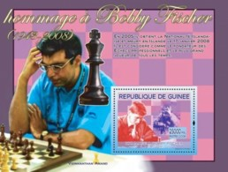 Guinea 2008 MNH - Hommage A Bobby Fischer: & Viswanathan Anand. YT 827, Mi 5451/BL1498 - Guinea (1958-...)