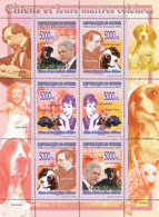 Guinea 2008 MNH - FAUNA- Dogs & Their Masters). YT 3387-3392, Mi 5607-5612 - Guinea (1958-...)