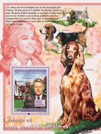 Guinea 2008 MNH - FAUNA- Dogs & Their Masters): Labrador Retreiver, Bill Clinton, M.Monroe. YT 829, Mi 5613/BL1539 - Guinea (1958-...)