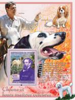 Guinea 2008 MNH - FAUNA- Dogs & Their Masters: England Mastiff, Charles Dickens (Roland Reagan). YT 831, Mi 5614/BL1540 - Guinea (1958-...)