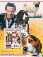 Guinea 2008 MNH - FAUNA- Dogs & Their Masters: Yorkshire Terrier, Audrey Hepburn, Mickey Rourke. YT 830, Mi 5615/BL1541 - Guinea (1958-...)
