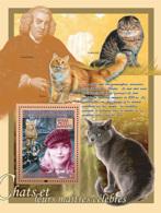 Guinea 2008 MNH - FAUNA- Cats & Their Masters: Felis Margarita, Michelle Pfeiffer, S.Johnson. YT 832, Mi 5604/BL1536 - Guinea (1958-...)