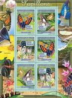 Guinea 2008 MNH - FAUNA- Butterflies. YT 3411-3416, Mi 5469-5474 - Guinea (1958-...)