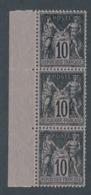 """DD-80:FRANCE: Lot Avec """"SAGE"""" N°103** (bande De 3) - 1876-1898 Sage (Tipo II)"""