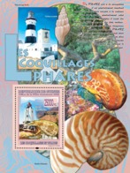 Guinea 2008 MNH - FAUNA- Lighthouses & Shells: Phare De Cape Columbine & Conus Textile. YT 863, Mi 5491/BL1507 - Guinea (1958-...)