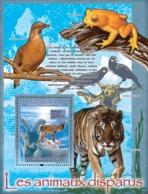 Guinea 2008 MNH - FAUNA- Disappeared Animals: Capra Pyrenaica Ssp. Pyrenaica (tiger, Birds, Frog. YT 866, Mi 5523/BL1515 - Guinea (1958-...)