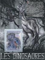 Guinea 2008 MNH - FAUNA- Dinosaurs: Abelisaurus (Iguanodon, Velociraptor). YT 865, Mi 5516/BL1514 - Guinea (1958-...)