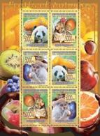 Guinea 2008 MNH - FAUNA- Fruits & Animals. YT 3501-3506, Mi 5573-5578 - Guinea (1958-...)