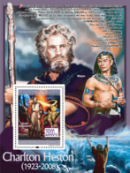 "Guinea 2008 MNH -CELEBRITIES- Charlton Hetson (1923-2008), ""The Ten Commandments"", Yul Brynner. YT 885, Mi 5644/BL1548 - Guinea (1958-...)"