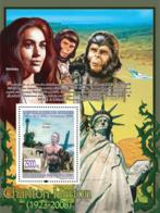 "Guinea 2008 MNH -CELEBRITIES- Charlton Hetson (1923-2008), ""Planet Of Apes"", Linda Harrison. YT 884, Mi 5645/BL1549 - Guinea (1958-...)"