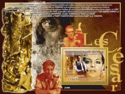 """Guinea 2008 MNH -CINEMA- """"Cesar""""- Phillipe Noiret, Romy Schneider. YT 925, Mi 6027/BL1601 - Guinea (1958-...)"""