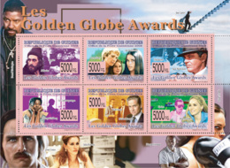 Guinea 2008 MNH -Golden Globe Awards: Al Pacino, A.MacGraw, J.Nicolson, W.Goldberg. YT 3798-3803, Mi 5995-6000 - Guinea (1958-...)