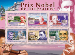 Guinea 2008 MNH -Nobel Prize Of Literature: F.Mistral, G.B.Shaw, S.Beckett, A.Camus. YT 3816-3821, Mi 5949-5954 - Guinea (1958-...)