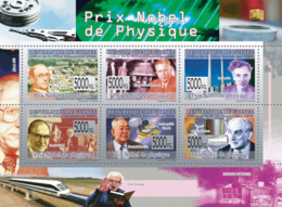 Guinea 2008 MNH-Nobel Prize Of Physic: J.Chadwick, E.O.Lawrence, L.Landu, D.Gabor, M.Kochiba. YT 3828-3833, Mi 5961-5966 - Guinée (1958-...)