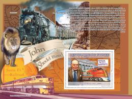 Guinea 2008 MNH - Transport - John Shedd Reed (1917-2008), Train Santa Fe 300c. YT 908, Mi 5816/BL1576 - Guinea (1958-...)