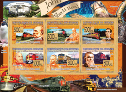 Guinea 2008 MNH - Transport - Trains & John Shedd Reed (1917-2008). YT 3648-3653, Mi 5810-5815 - Guinea (1958-...)