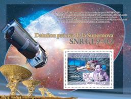 Guinea 2008 MNH - Transport - S.Chandrasekhar, Satellite Chandra (Space). YT 912, Mi 5851/BL1581 - Guinea (1958-...)