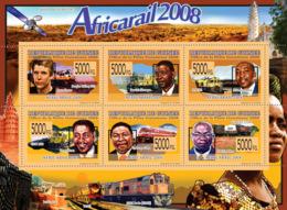 Guinea 2008 MNH - Transport - Africa Rail 2008 (Trains). YT 3726-3731, Mi 5817-5822 - Guinea (1958-...)