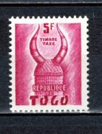 TOGO N° TAXE 59   NEUF SANS CHARNIERE COTE  0.50€  CASQUE KONBOMBA - Togo (1960-...)