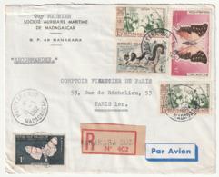 MADAGASCAR - LETTRE Recommandée : Manakara  Le 15/03/1962 - Madagascar (1960-...)