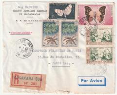 MADAGASCAR - LETTRE Recommandée : Manakara  Le 22/03/1962 - Madagascar (1960-...)