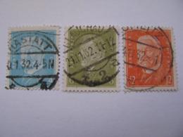 Deutsches Reich  454 , 465 - 466  O - Gebraucht