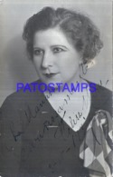 122305 ARGENTINA ARTIST FELISA MARY ACTRESS AUTOGRAPH  POSTAL POSTCARD - Argentine