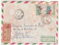 MADAGASCAR - LETTRE Recommandée : Manakara  Le 21/03/1962 - Madagascar (1960-...)
