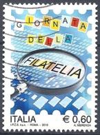 Italia, 2010, Giornata Della Filatelia, 0.60€ Multicolore  # Sassone 3135 - Michel 3418 - Scott 3032 USATO - 6. 1946-.. Repubblica
