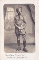 CPA - CARTE PHOTO - Militaria - Capitaine Indien - (éperons Aux Souliers) RARE !!!!! - Personajes