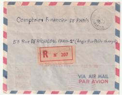 MADAGASCAR - LETTRE Recommandée : Manakara  Le 09/03/1962 - Madagascar (1960-...)
