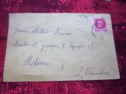 WW2-Lettre CHANTIER De JEUNESSE 13 Groupe 4-Equipe 11-Infirmerie Robion 84 -Guerre 1939-45 Pétain Régime De Vichy - Marcophilie (Lettres)