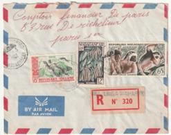 MADAGASCAR - LETTRE Recommandée : Maharibo  Le 23/08/1960 - Madagascar (1960-...)