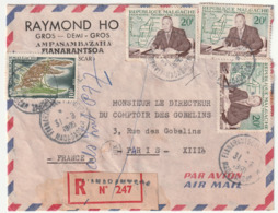MADAGASCAR - LETTRE Recommandée : Fianarantsoa  Le 31/08/1960 - Madagascar (1960-...)