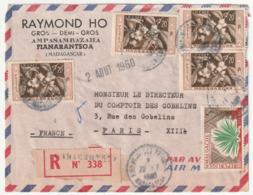 MADAGASCAR - LETTRE Recommandée : Fianarantsoa  Le 26/07/1960 - Madagascar (1960-...)