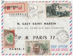 MADAGASCAR - LETTRE Recommandée : Arantsoa  Le 05/07/1960 - Madagascar (1960-...)