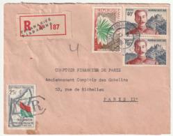 MADAGASCAR - LETTRE Recommandée : Fiadanana  Le 17/04/1961 - Madagascar (1960-...)