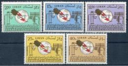 Libano Aereo 363/367 ** MNH. 1966 - Lebanon