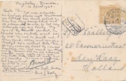 Nederlands Indië - 1927 - 7,5 Cent Cijfer Op Ansicht Van LB PANGKAL / ANBRANDAN Naar Den Haag / Nederland - Nederlands-Indië