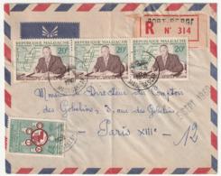 MADAGASCAR - LETTRE Recommandée : Port Bergé  Le 31/08/1960 - Madagascar (1960-...)