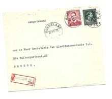 Boudewijn/Marchand  RECOM. 2 Fr + 5 Fr Leop III  Sterstempel /relais * ROESELARE 14 * 23.5.1956 - Lettres & Documents