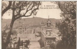 BARCELONA VISTA DESDE MONTJUICH SIN ESCRIBIR - Barcelona