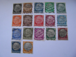 Deutsches Reich  512 - 528   O - Used Stamps
