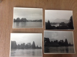 Thun  4 Photos Originales Lac - Cartes Postales