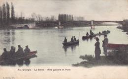 RIS-ORANGIS - La Seine - Rive Gauche Et Pont - Ris Orangis