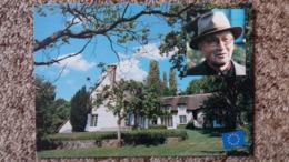 CPM MAISON DE JEAN MONNET PARLEMENT EUROPEEN 78 BAZOCHES SUR GUYONNE - Historical Famous People