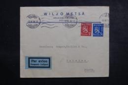 FINLANDE - Enveloppe Commerciale De Helsinki Pour La France En 1938 Par Avion, Affranchissement Plaisant - L 44640 - Finland