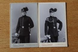 Armée Allemande2  Cdv De Chasseurs Saxon  Avec Shako A Plumes - Guerra, Militares