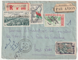 MADAGASCAR - LETTRE Recommandée : Vangaindrano  Le 21/06/1960 - Madagascar (1960-...)